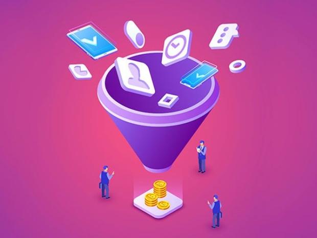 Illustration of Sales Funnel