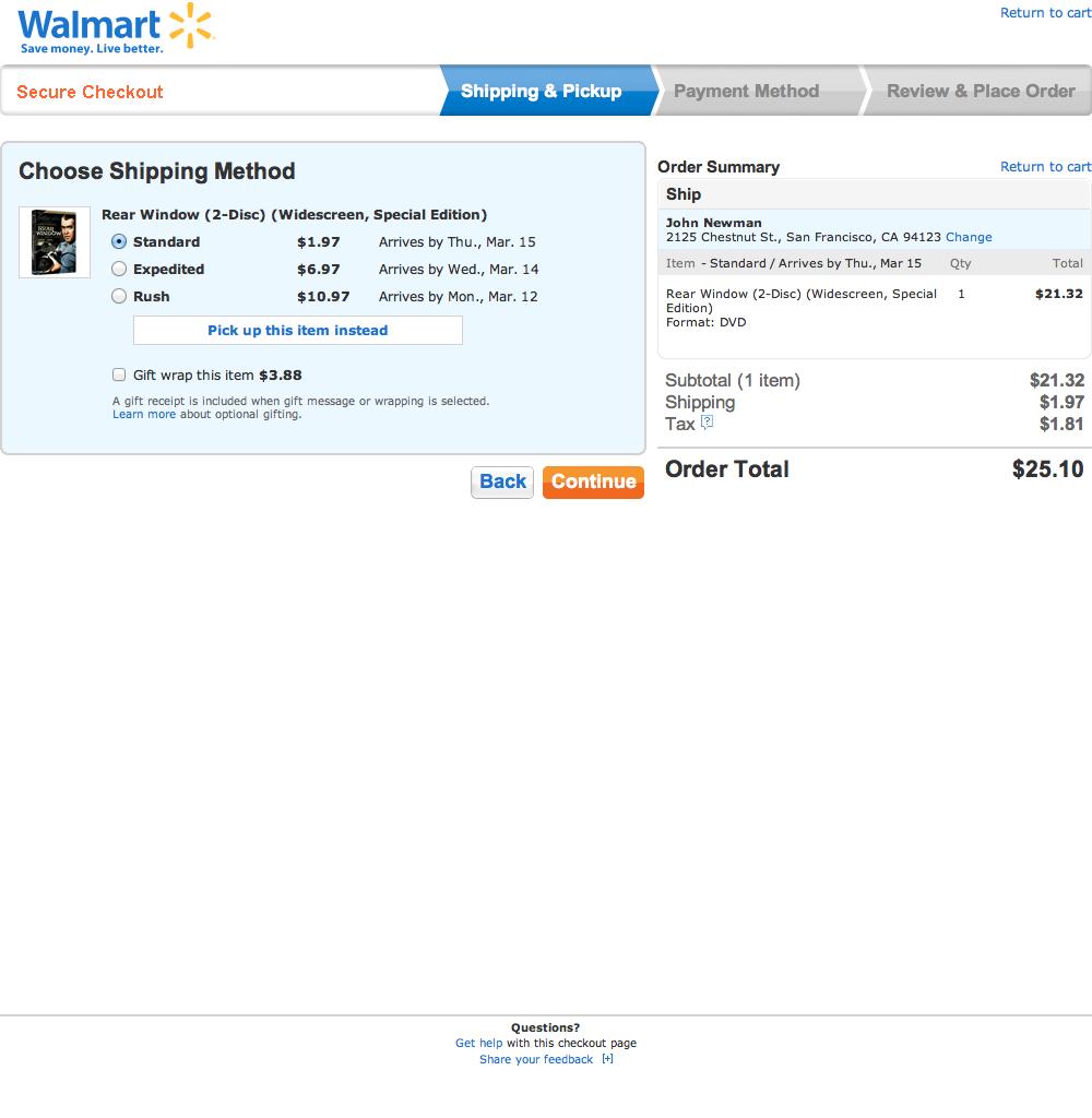 optimize checkout design