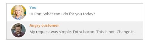 The ok. angry customer