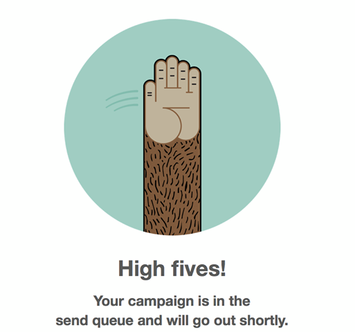 Highfive the MailChimp Mascott!